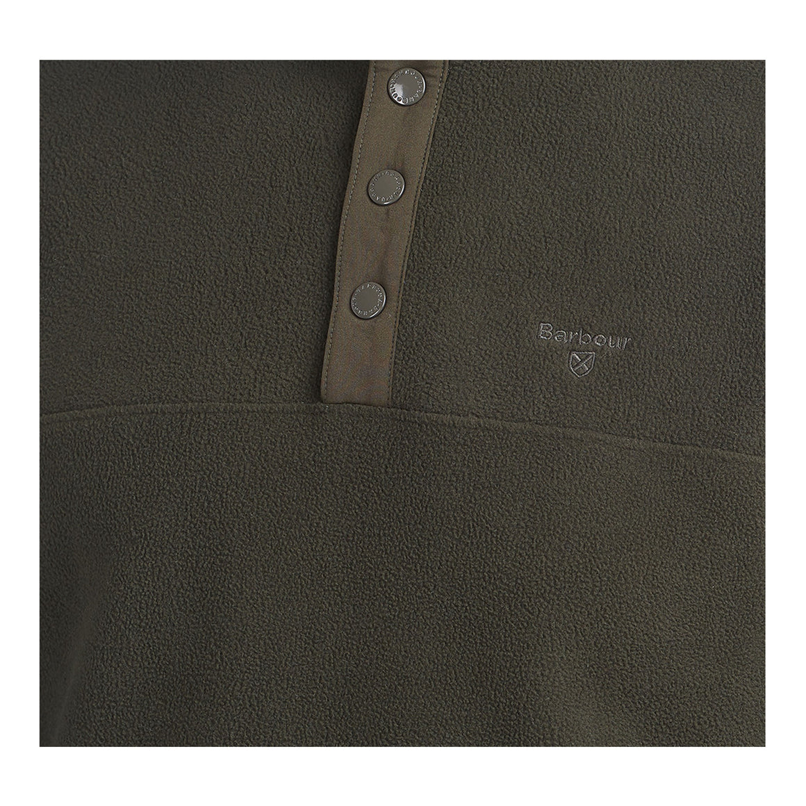 Essential Fleece Half Snap for Men in Forest