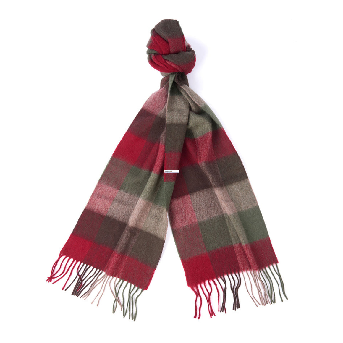 Large Tattersall Scarf for Men in Olive