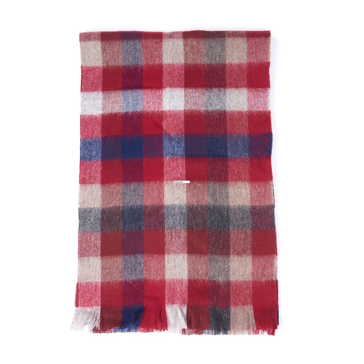 Nine Square Scarf for Men in Bright Red