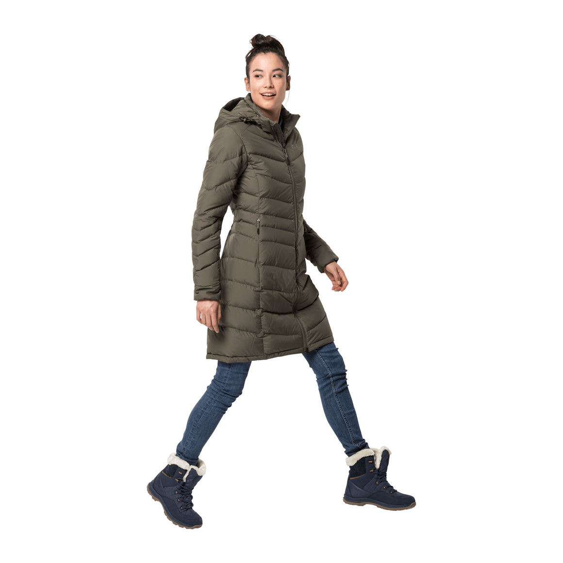 Selenium Coat for Women in Granite