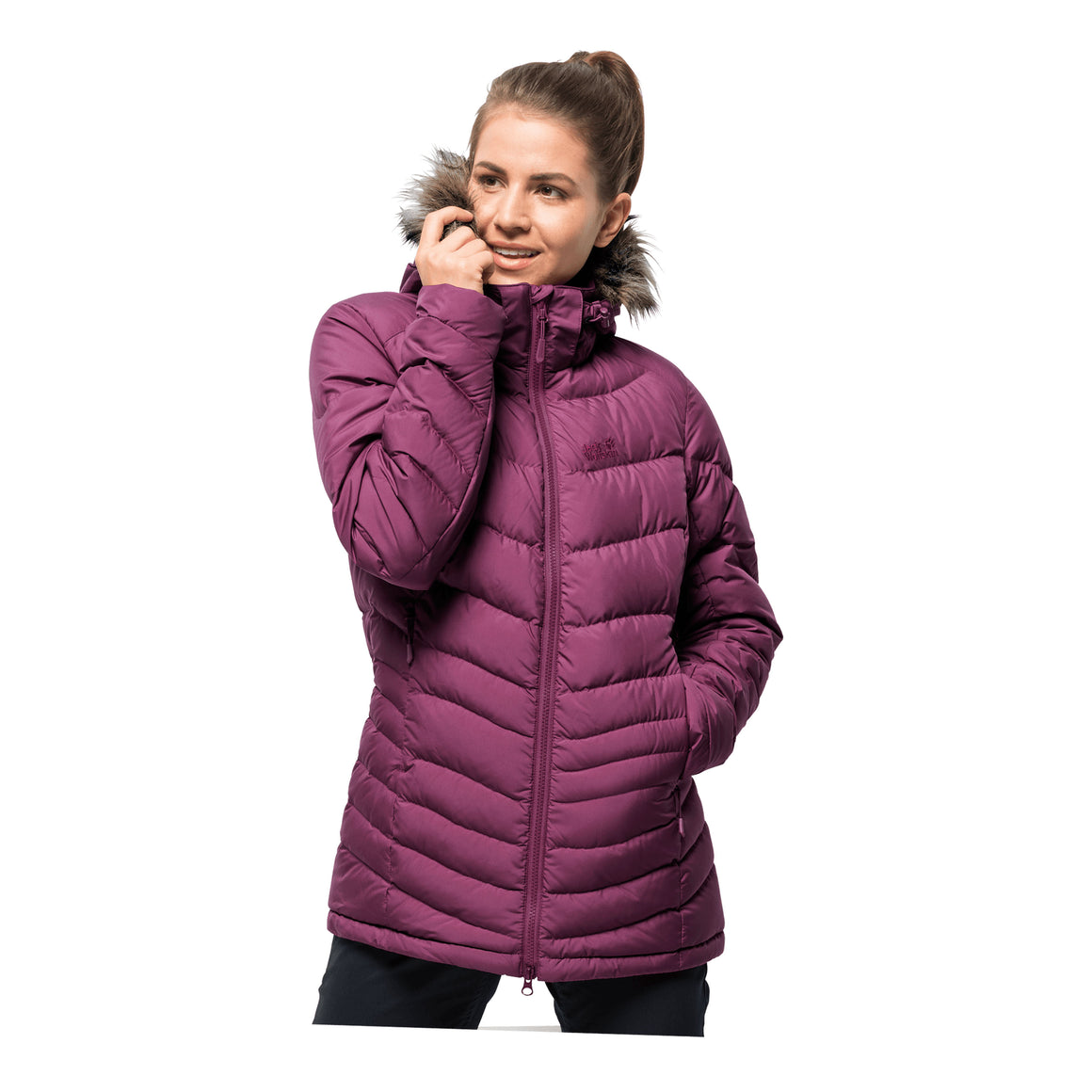 Selenium Bay Down Jacket for Women in Violet Quartz