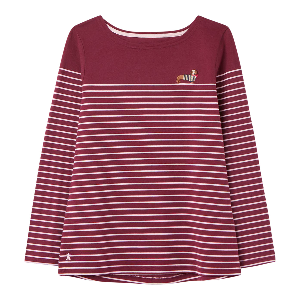 Harbour Long Sleeve Jersey Top for Women in Purple Stripe
