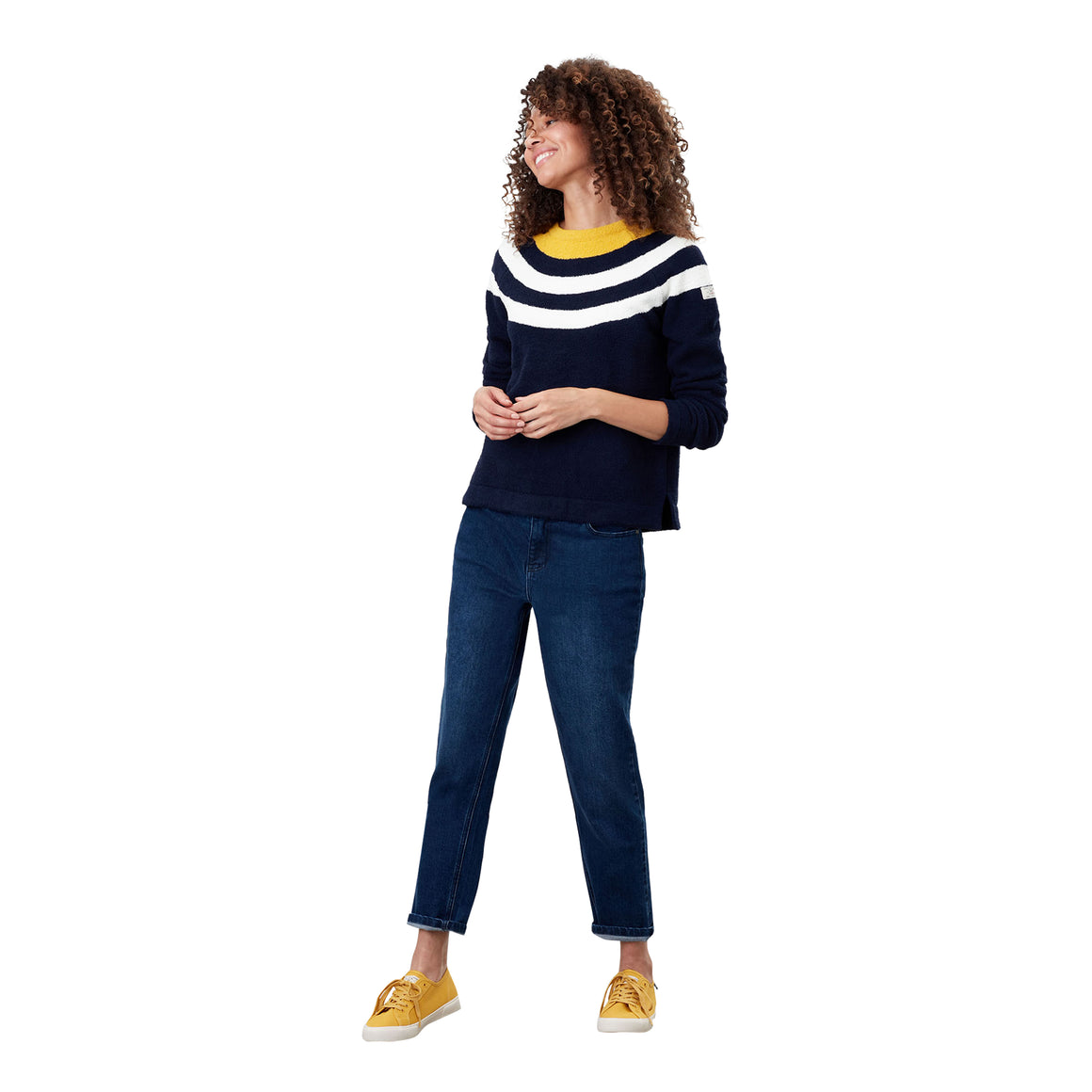 Seaport Roll Neck Jumper for Women in Navy