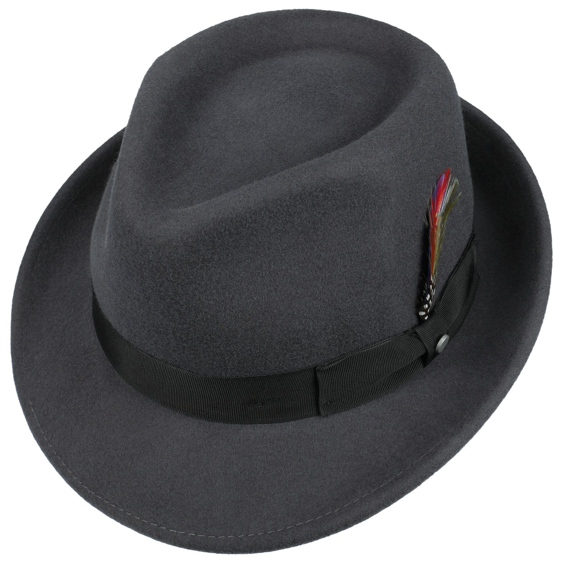 Trilby for Men in Charcoal