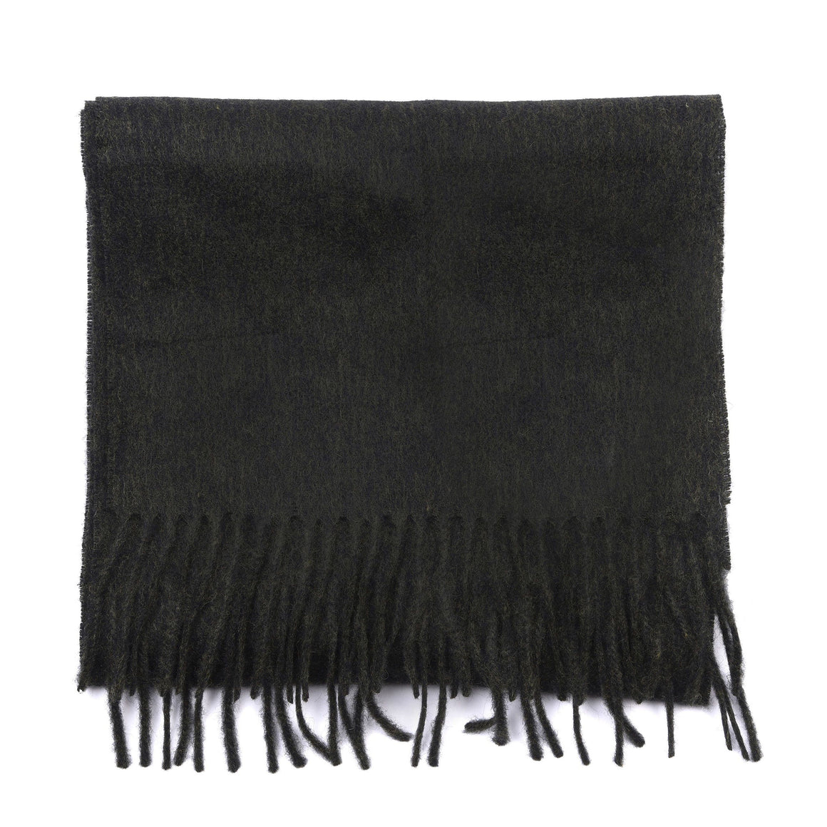 Plain Lambswool Scarf for Men in Black