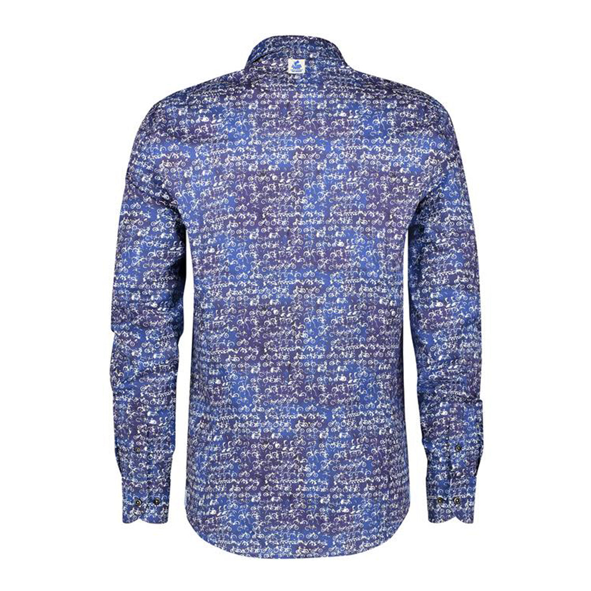 Bicycle Stamp Shirt for Men in Night Sky Blue