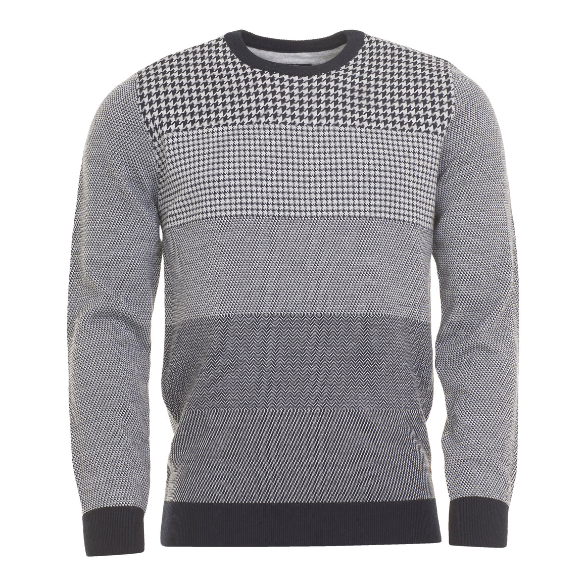 Houndstooth Knit for Men in Grey