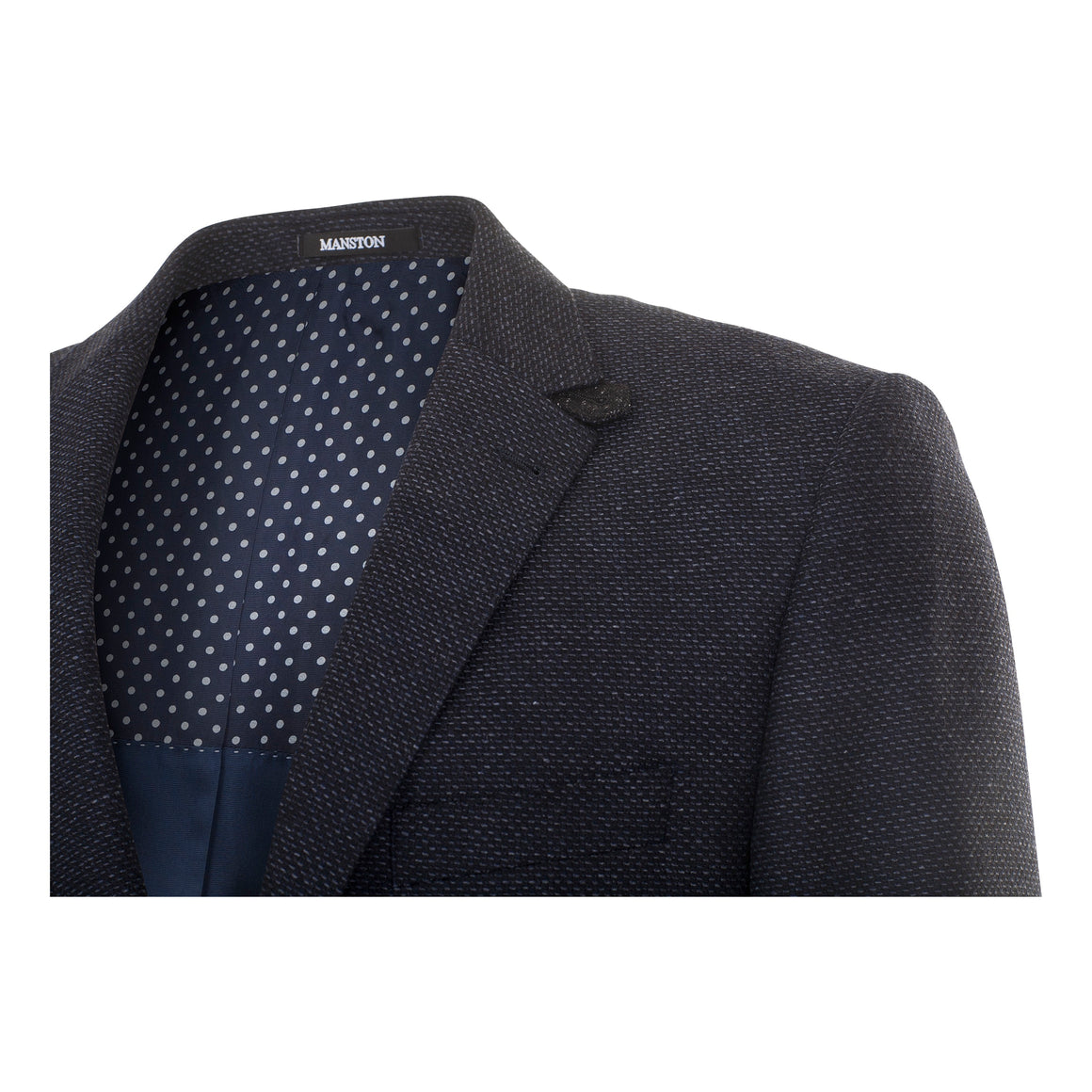 Martin Ezzo Textured Blazer for Men in Navy
