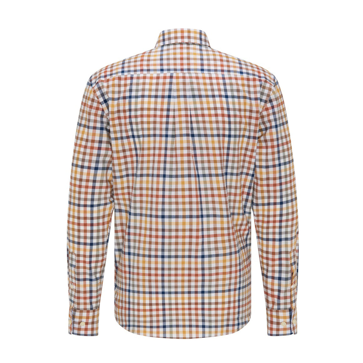 Supersoft Combi Check Shirt for Men in Toscana Taupe
