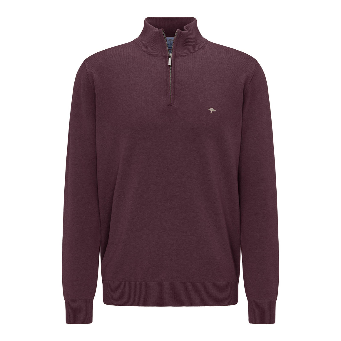 Superfine Cotton Troyer Zip Sweater for Men in Amerena