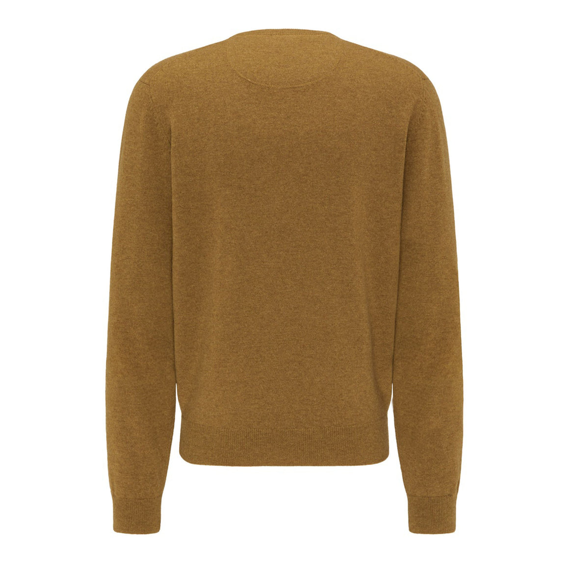 Premium Lambswool O-Neck for Men in Mustard
