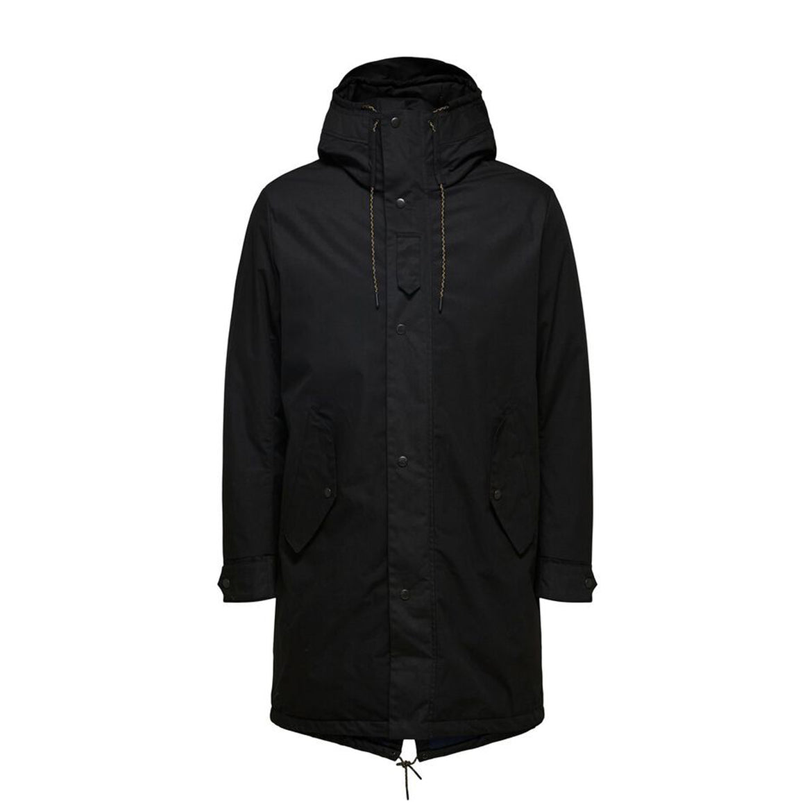 SLH Sustainable Iconics Parka for Men in Black