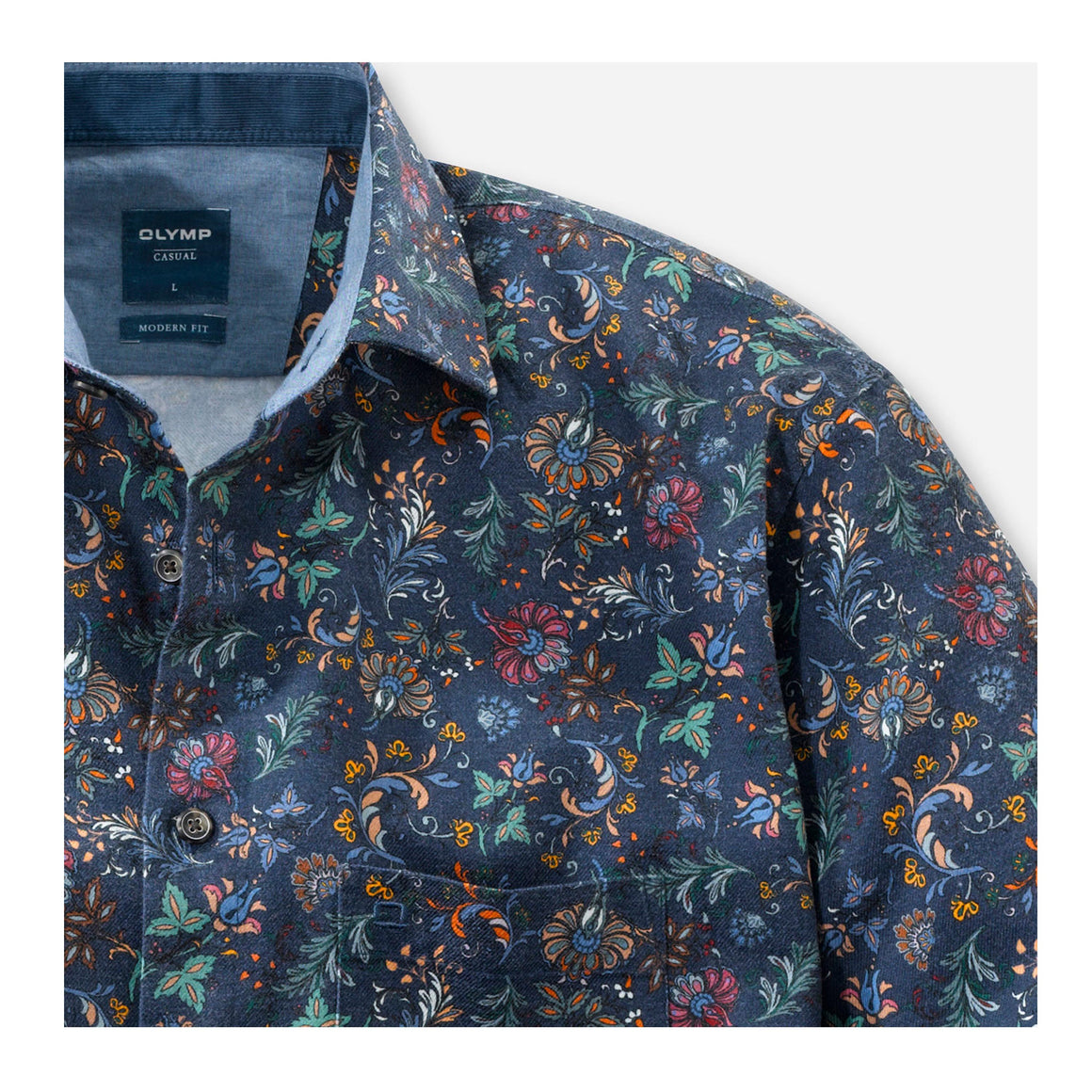 Liberty Style Shirt for Men in Navy