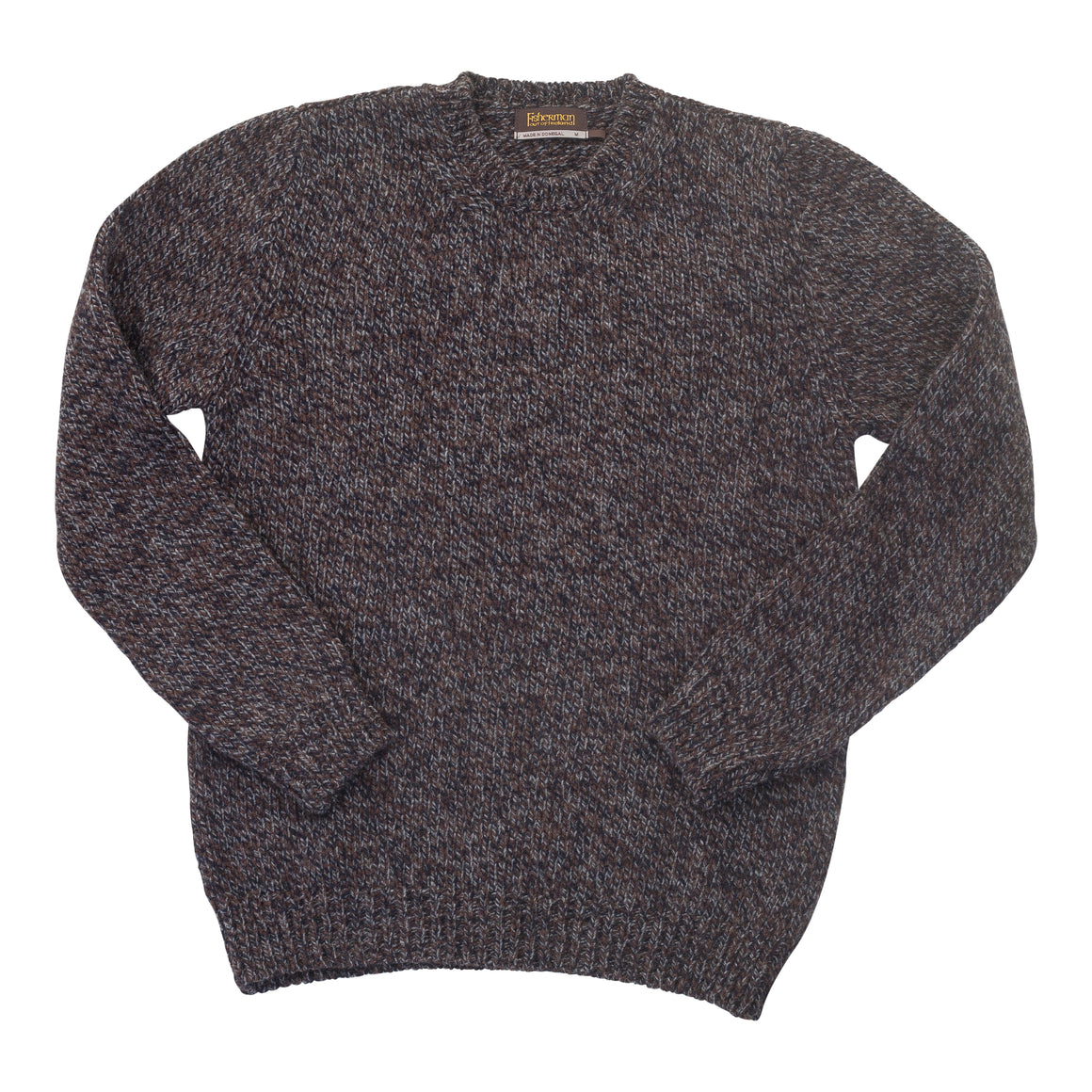 Luxury Donegal Knit for Men in Navy Peat