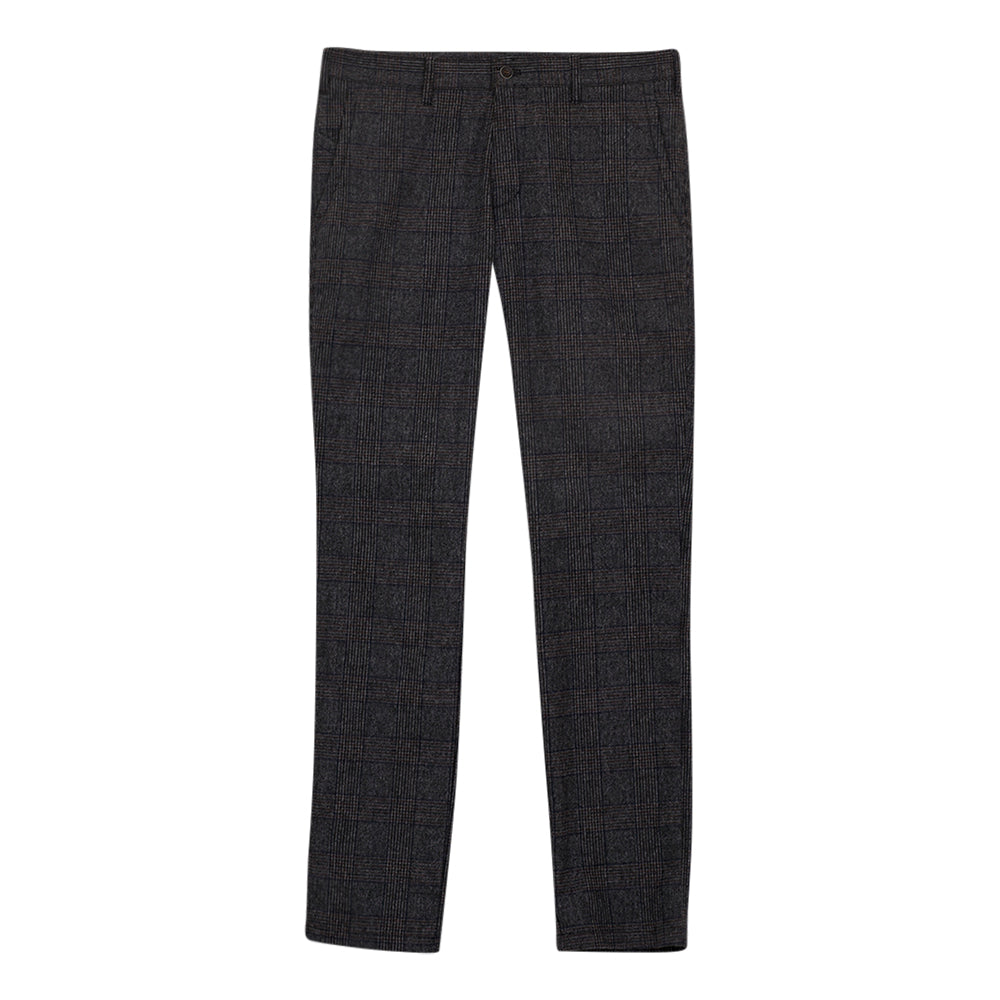 Checked Trousers for Men in Grey