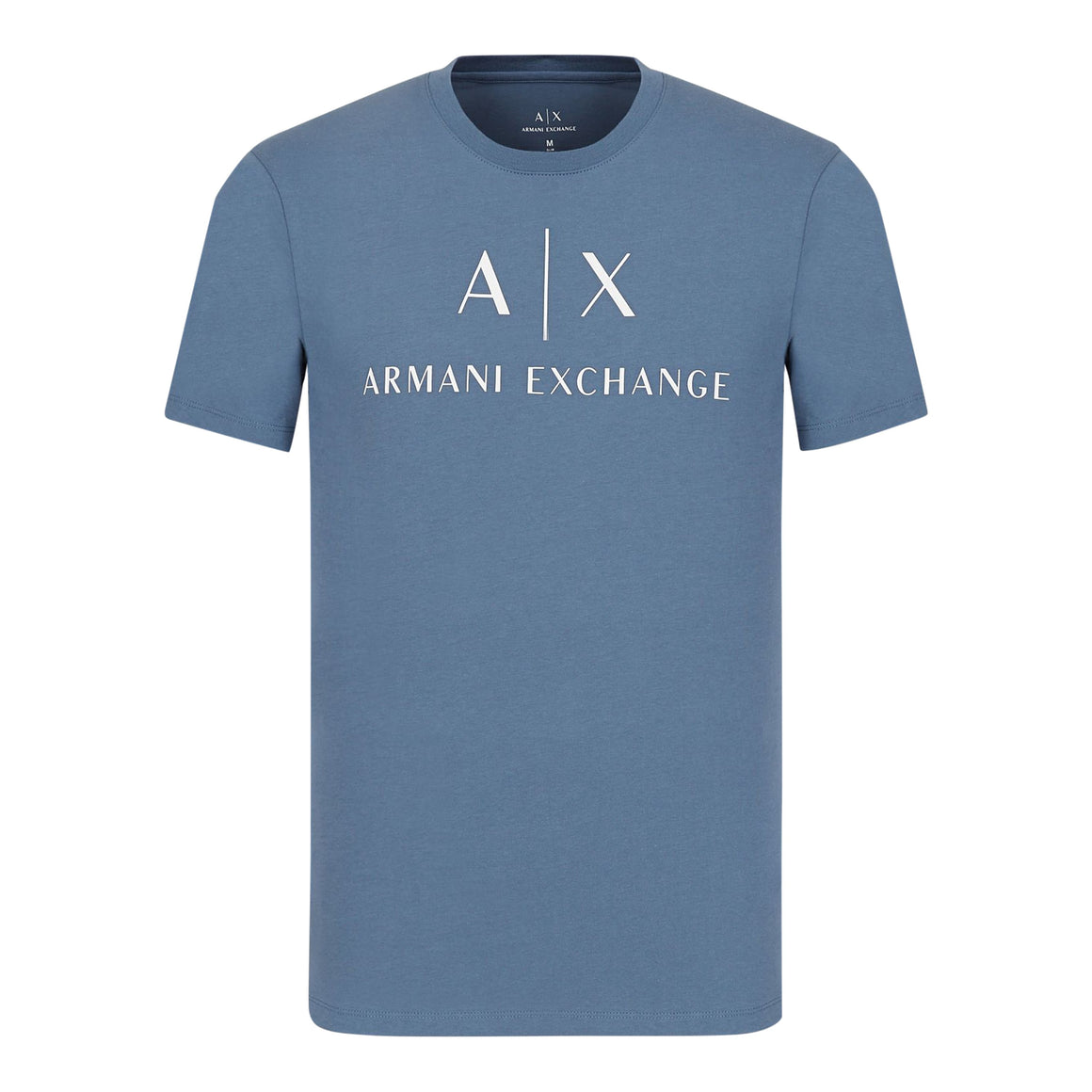 Logo Print Tee for Men in Blue