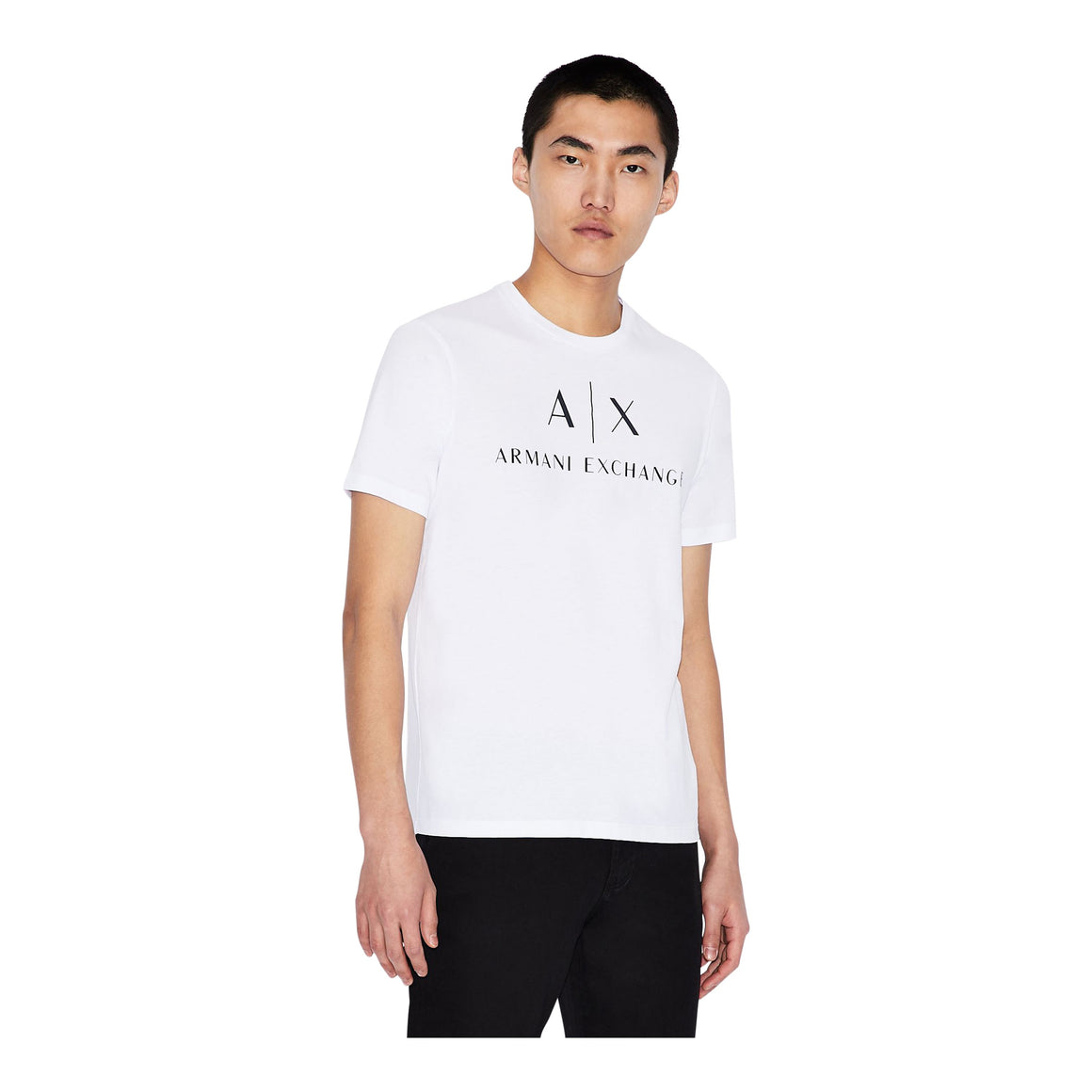 Logo Print Tee for Men in White