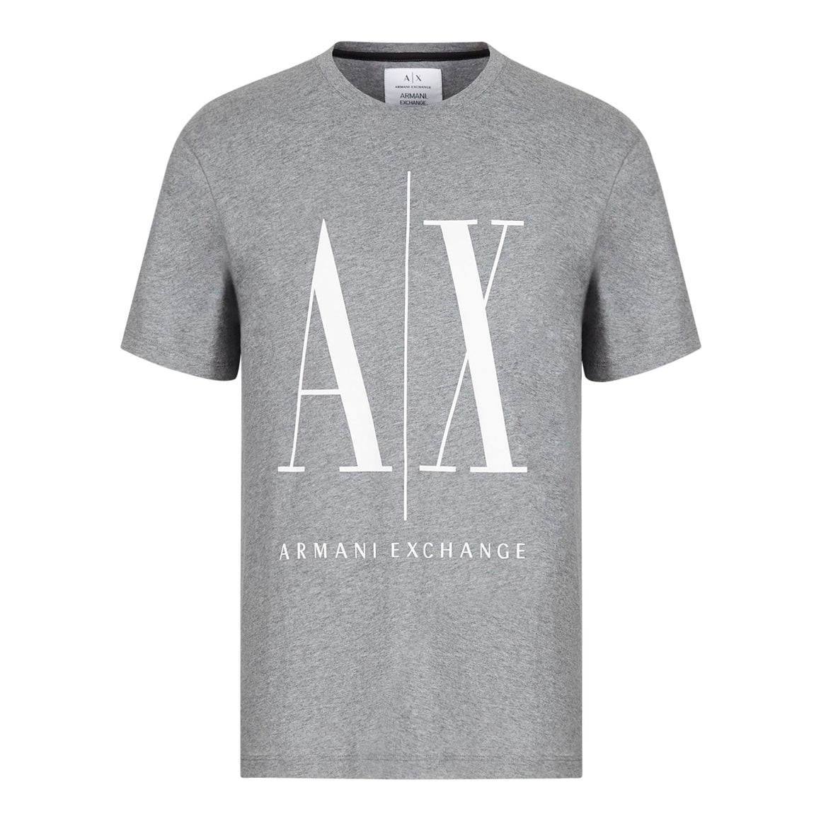 AX Print Tee for Men in Charcoal