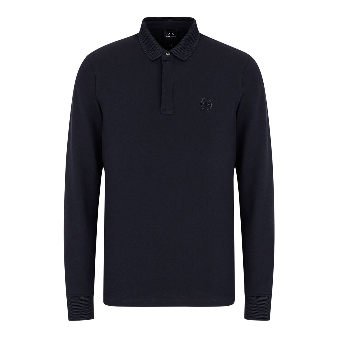 Long Sleeve Polo for Men in Navy