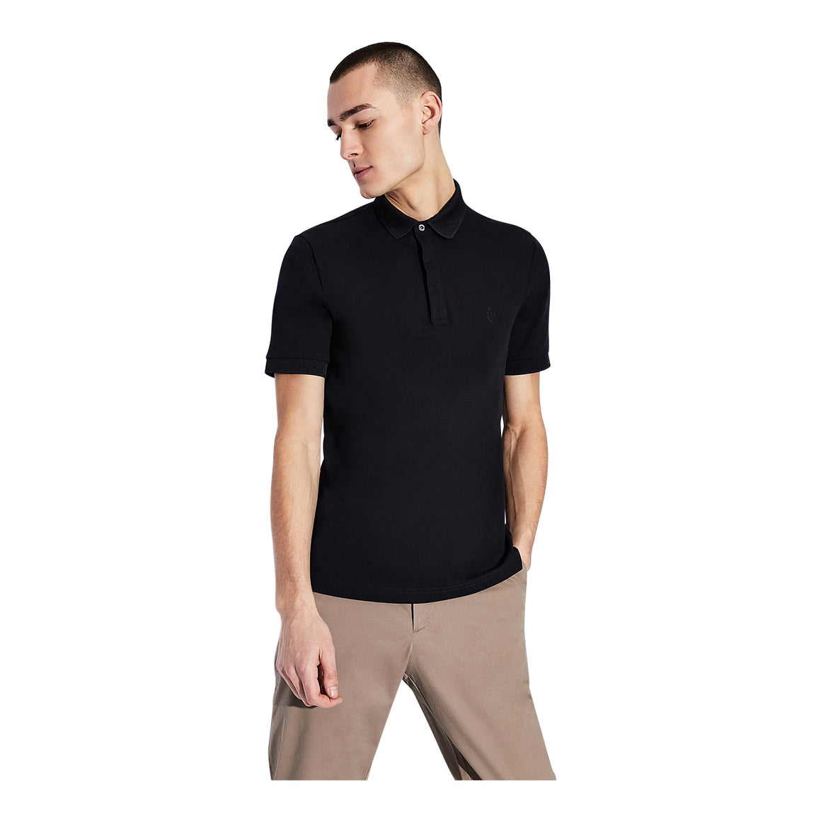 Short Sleeve Polo Shirt for Men in Navy
