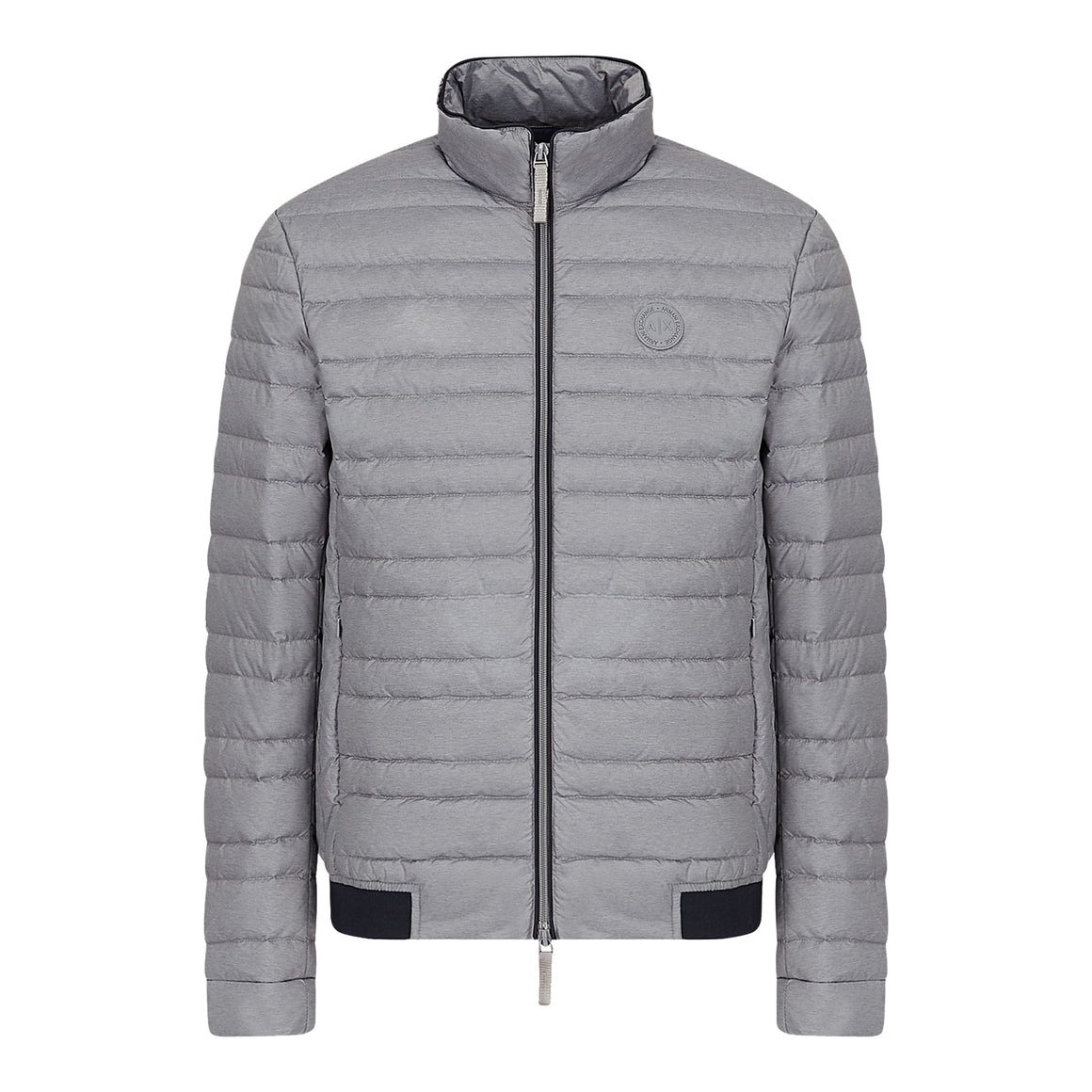 Lightweight Down Puffa Coat for Men in Grey