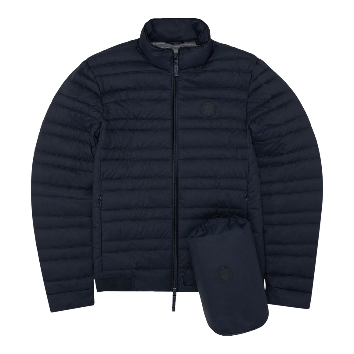 Lightweight Down Puffa Coat for Men in Navy