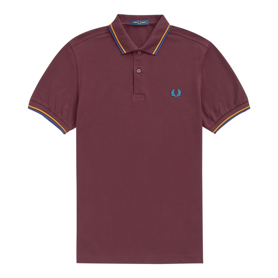Twin Tipped Polo Shirt  for Men in Mahogany