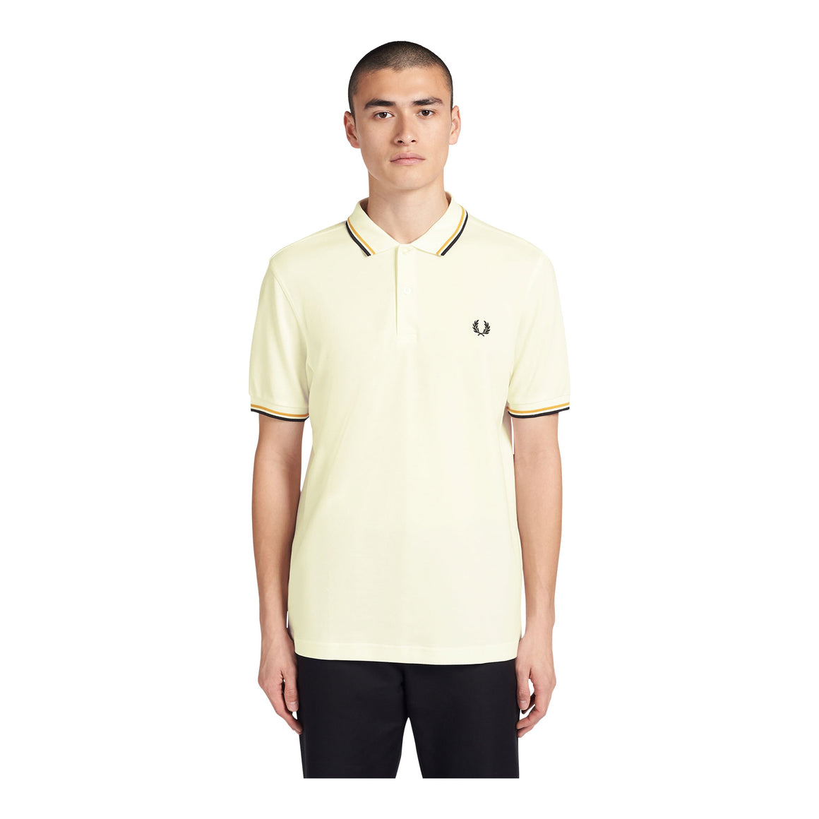 Twin Tipped Polo Shirt for Men in Snow White