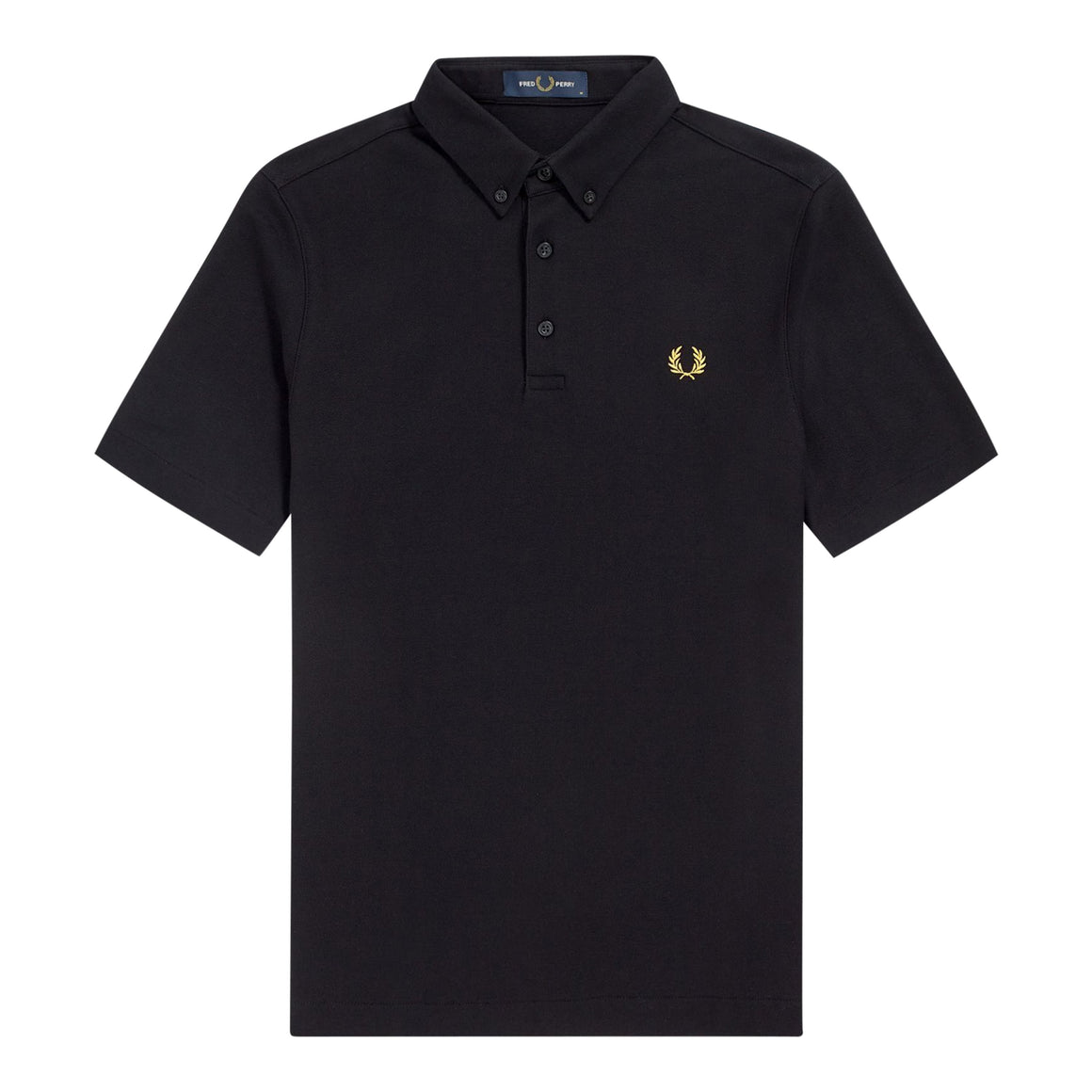 Button Down Polo Shirt for Men in Black