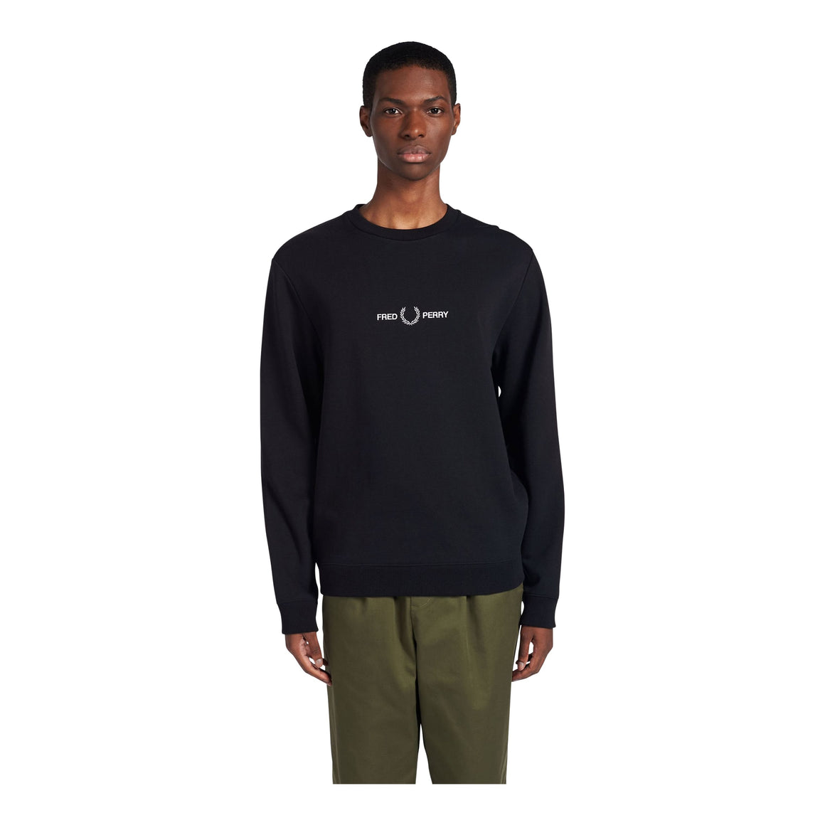 Graphic Sweatshirt for Men in Black
