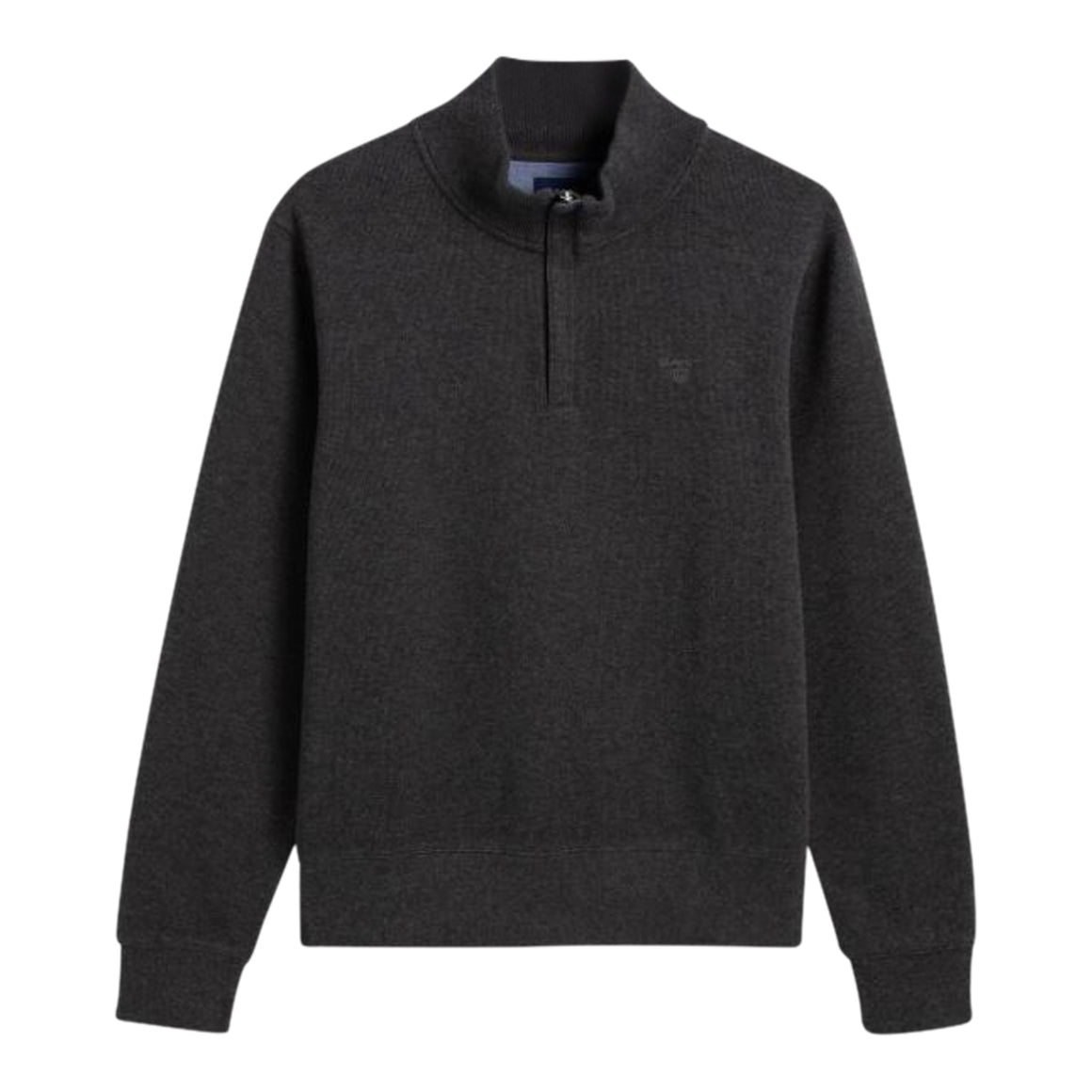 Sacker Rib Half Zip for Men in Anthracite Melange