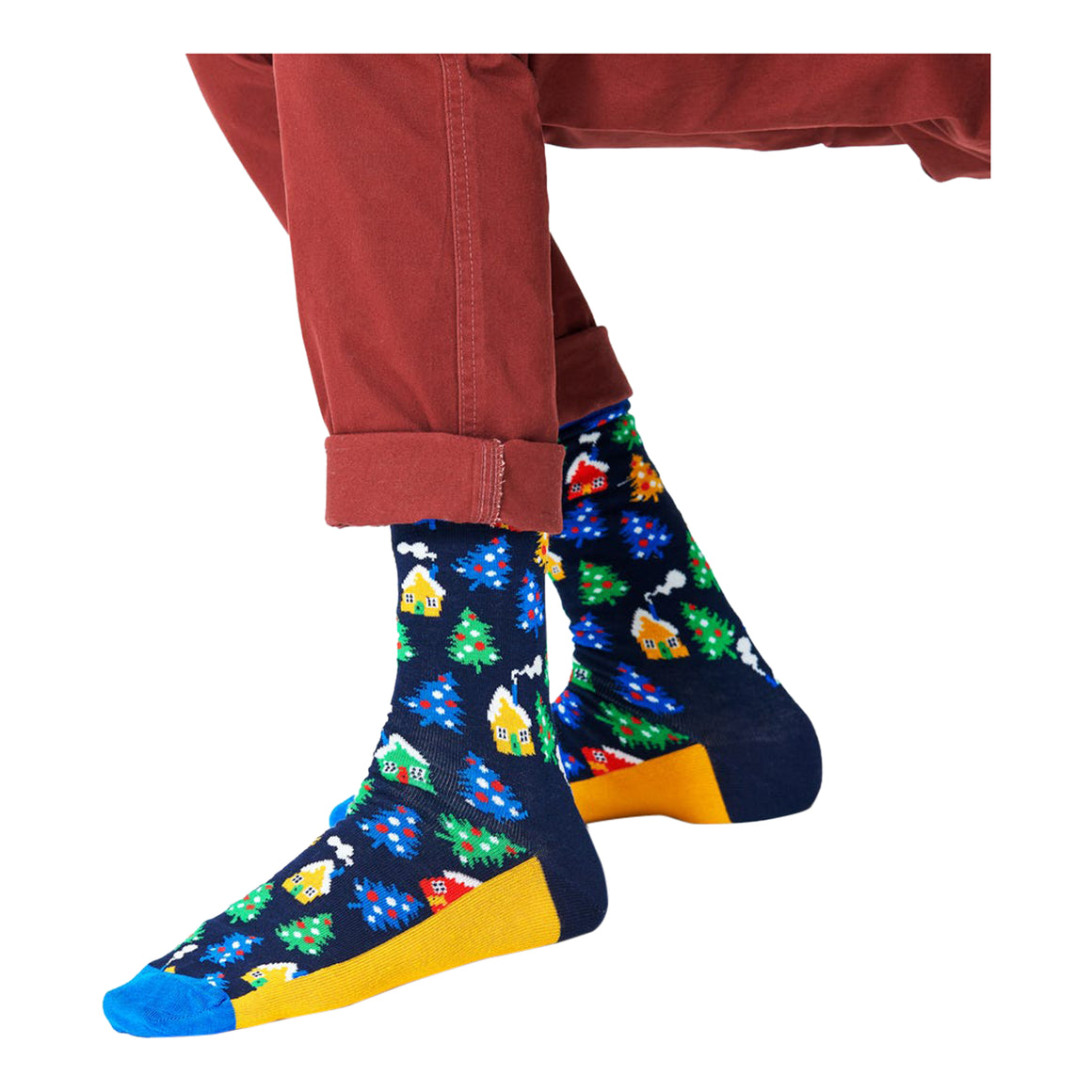 Winterland Socks for Men in Navy