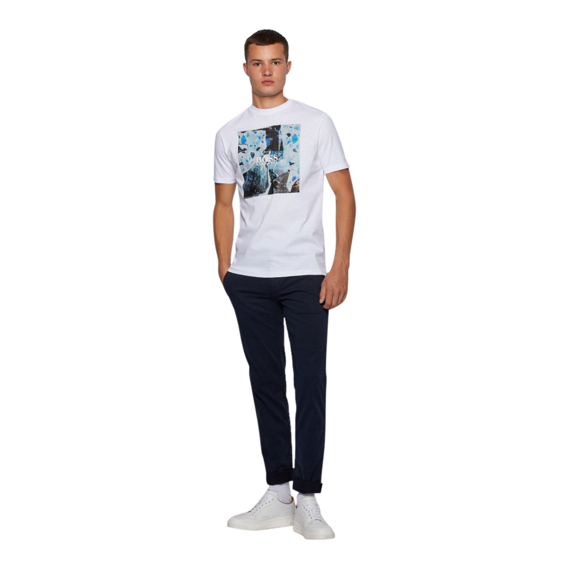 Tomio 5 Graphic Tee for Men in White