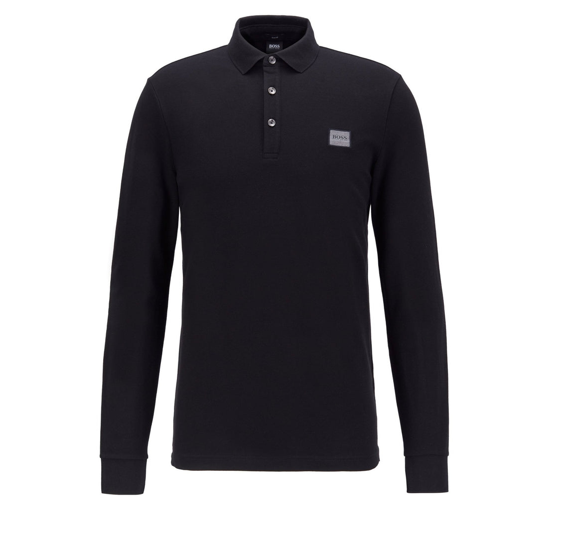 Passerby Long Sleeve Polo for Men in Black