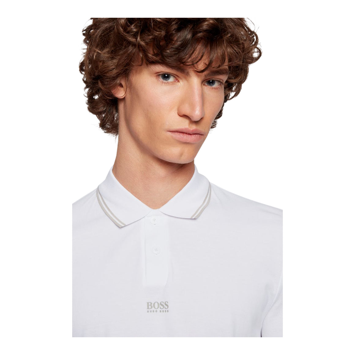Pchup Tipped Polo for Men in White
