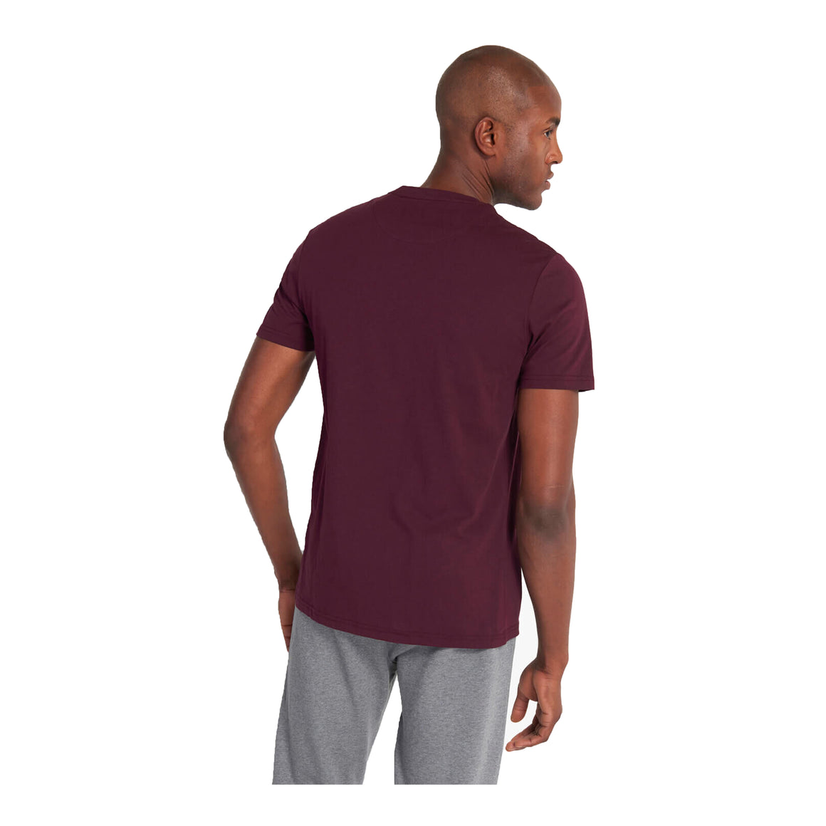 Plain T-Shirt for Men in Burgundy