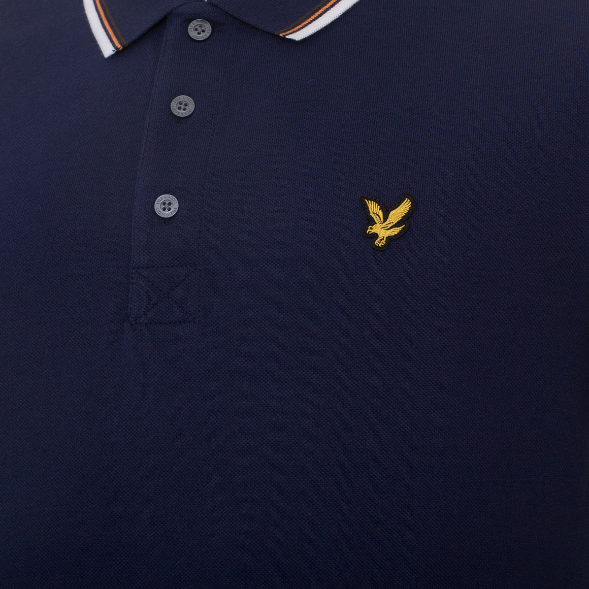 Tipped Polo for Men in Navy