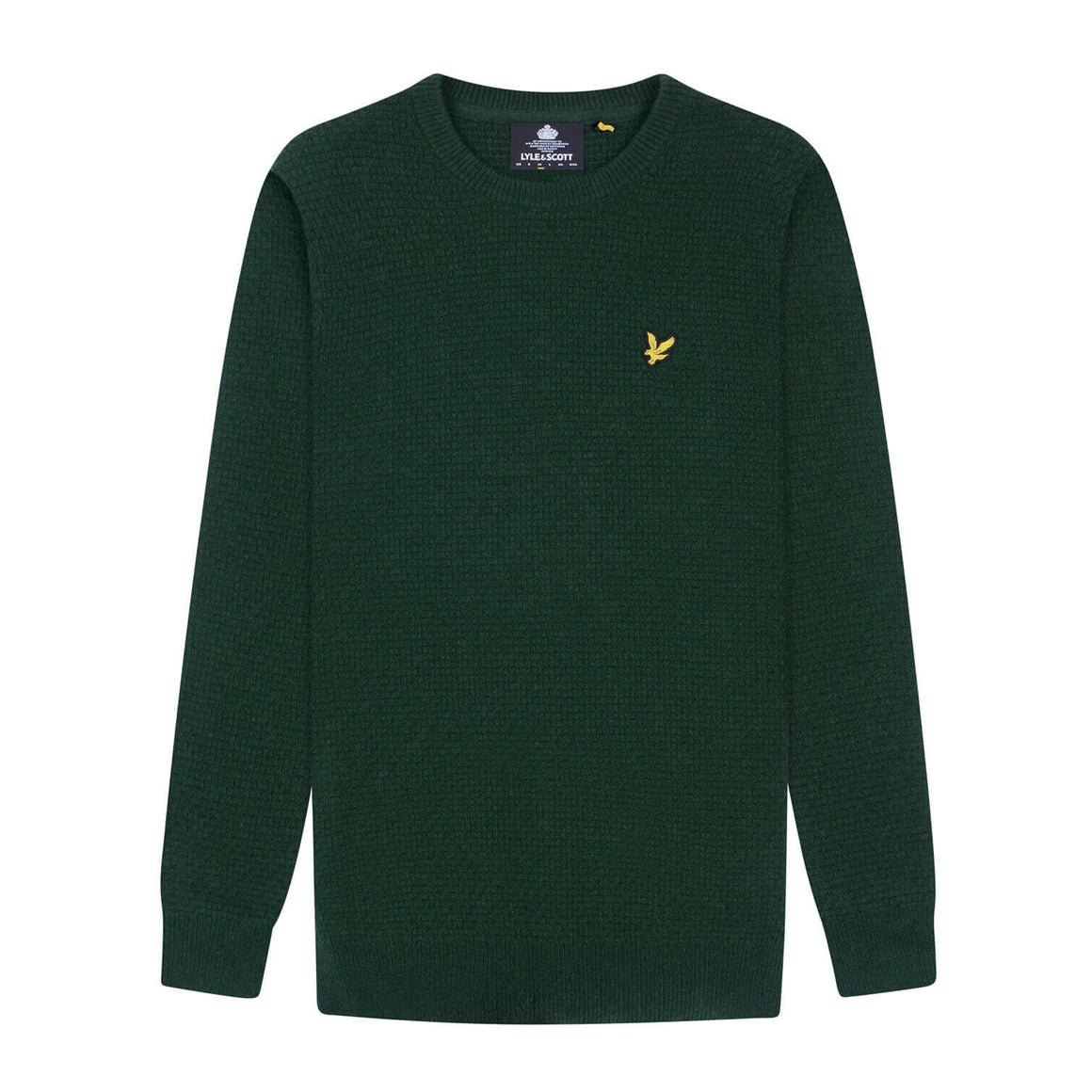 Basket Weave Jumper for Men in Green