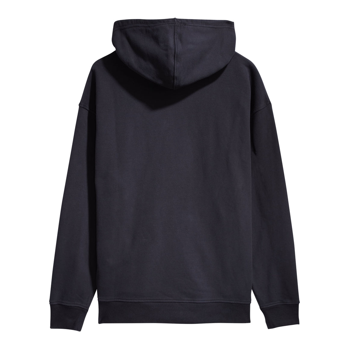 T2 Relaxed Graphic Hoodie for Men in Serif Law Gap Po Jet Black