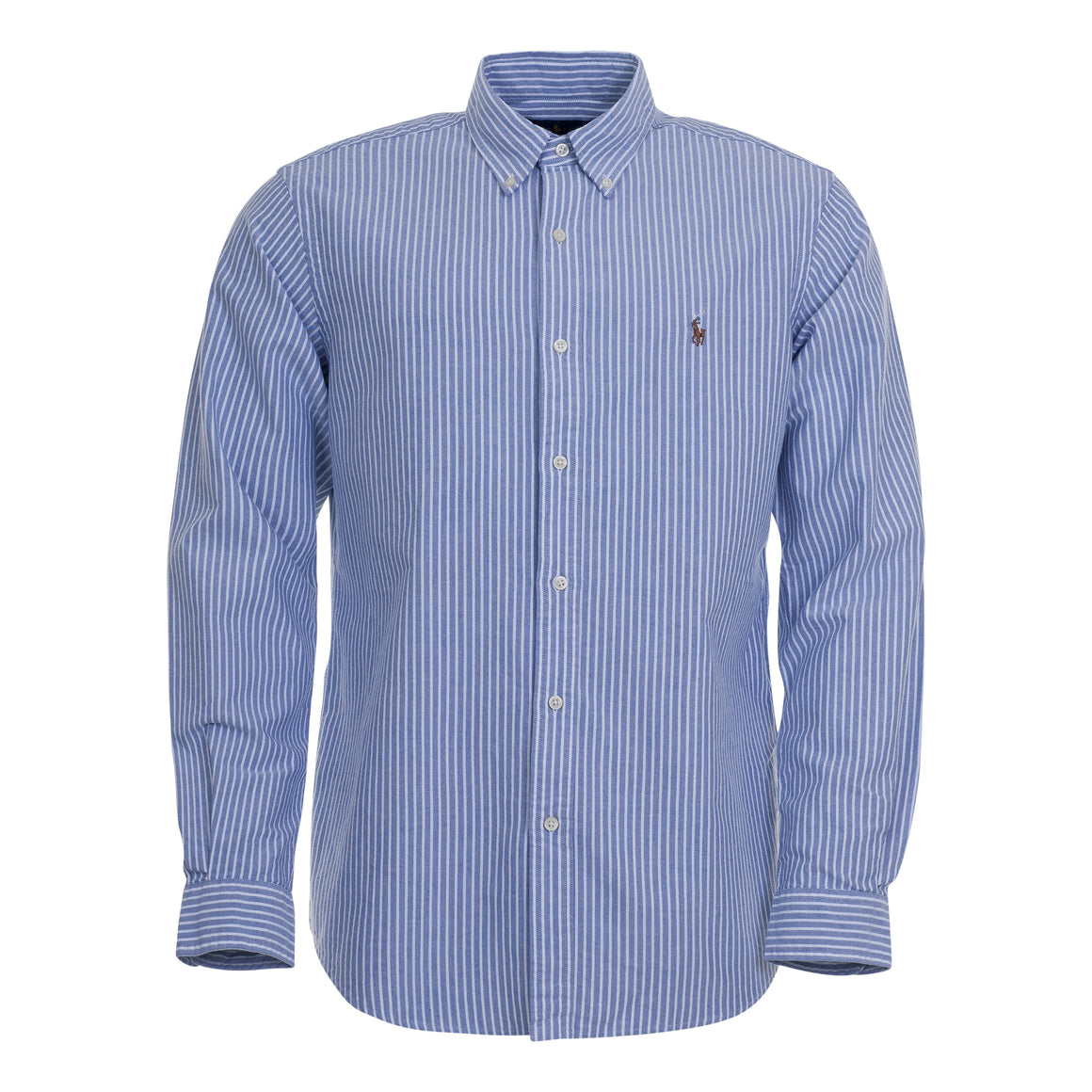 Long Sleeve Stripe Shirt for Men in Blue & White