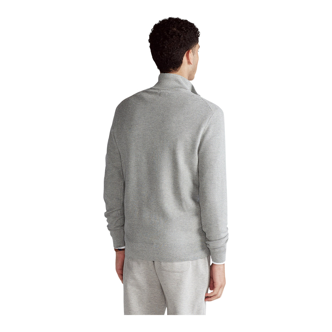 Pima 1/2 Zip Knit for Men in Grey