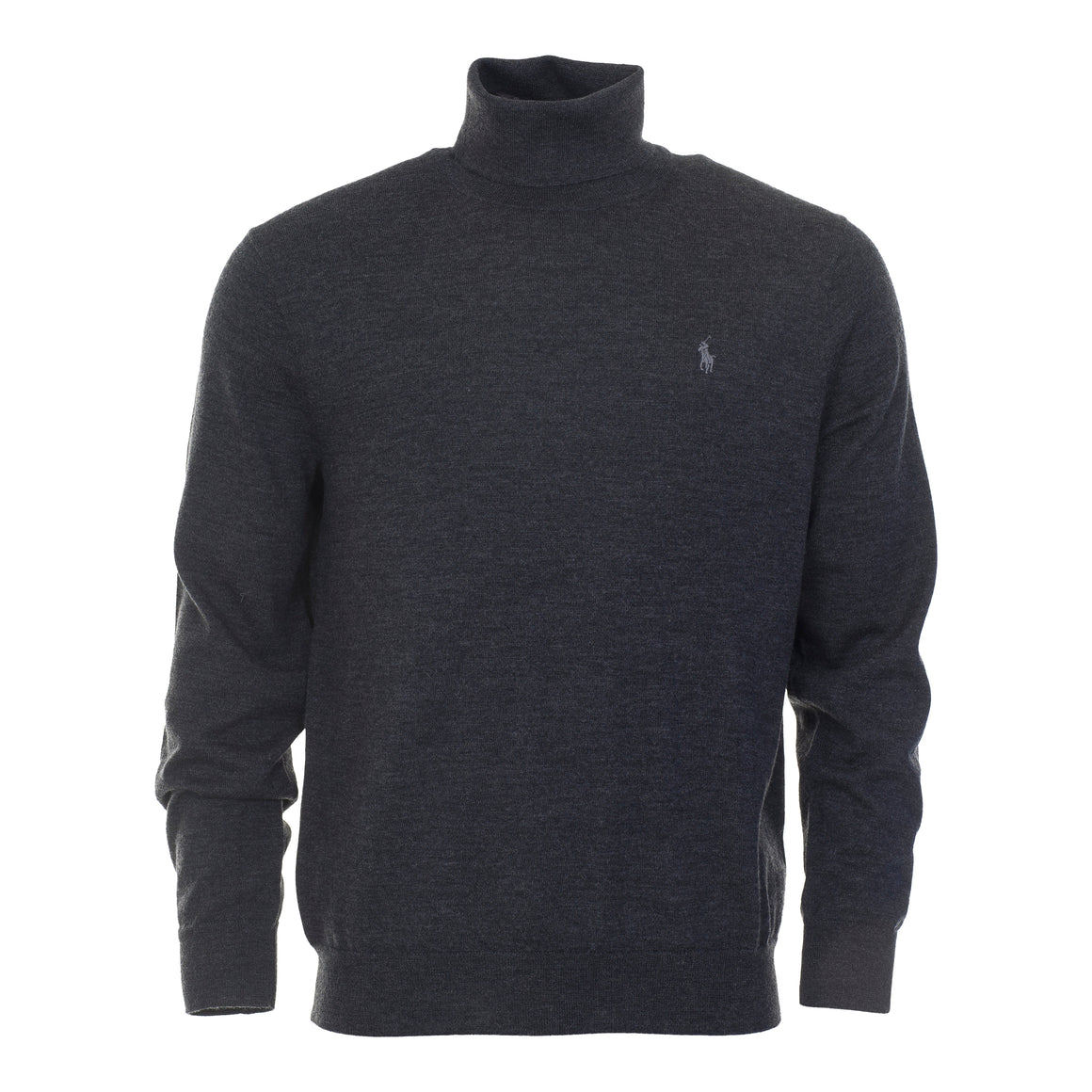 Merino Wool Roll Neck for Men in Grey
