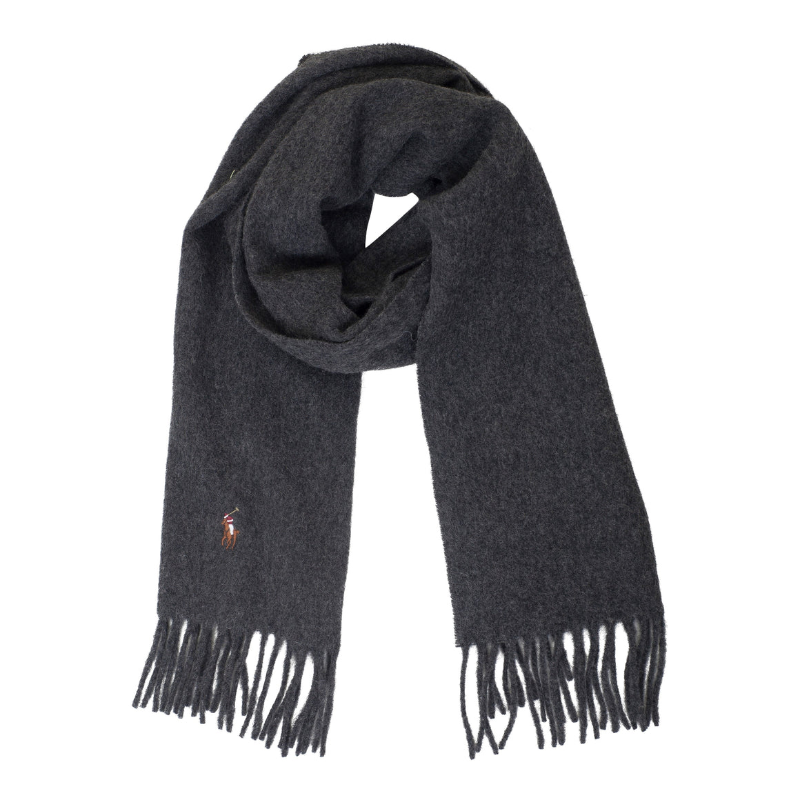 Plain Wool Scarf for Men in Grey