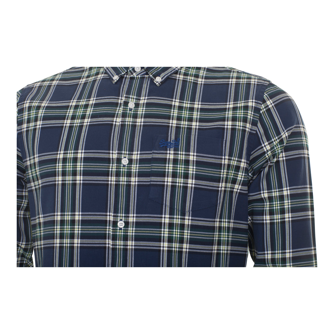 Classic London Long Sleeved Shirt for Men in Ivy Check