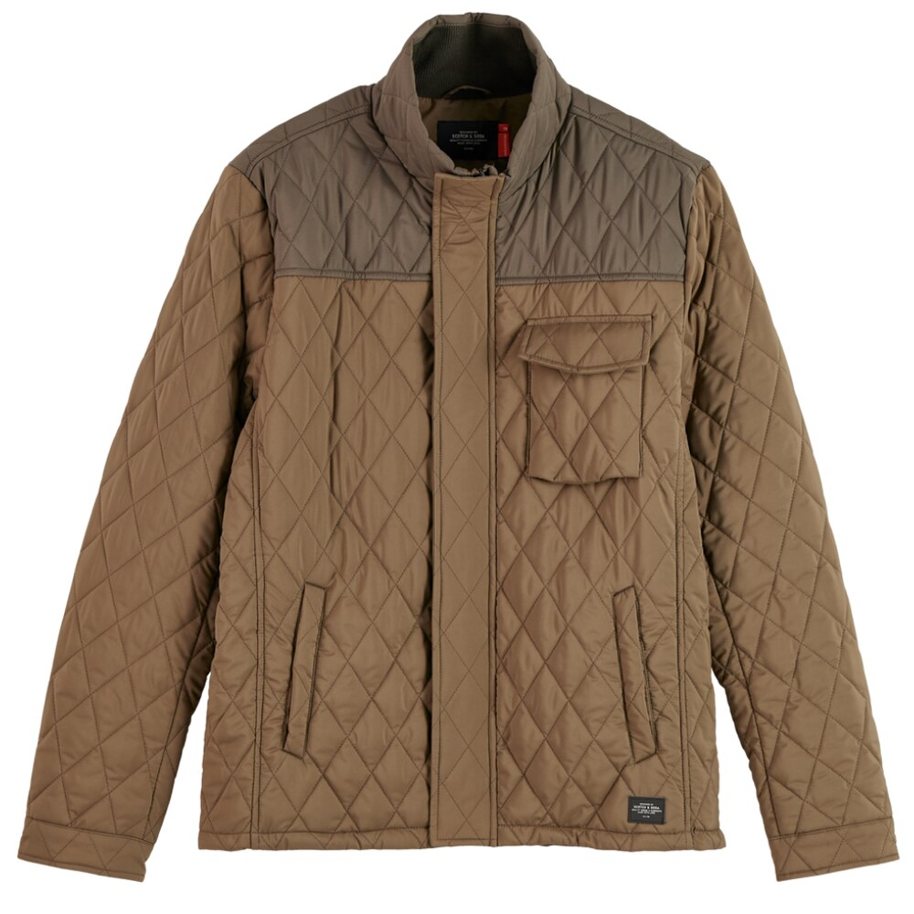 Quilted Jacket for Men in Military