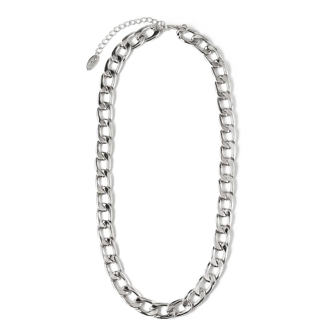 Chunky Chain Necklace for Women in Silver