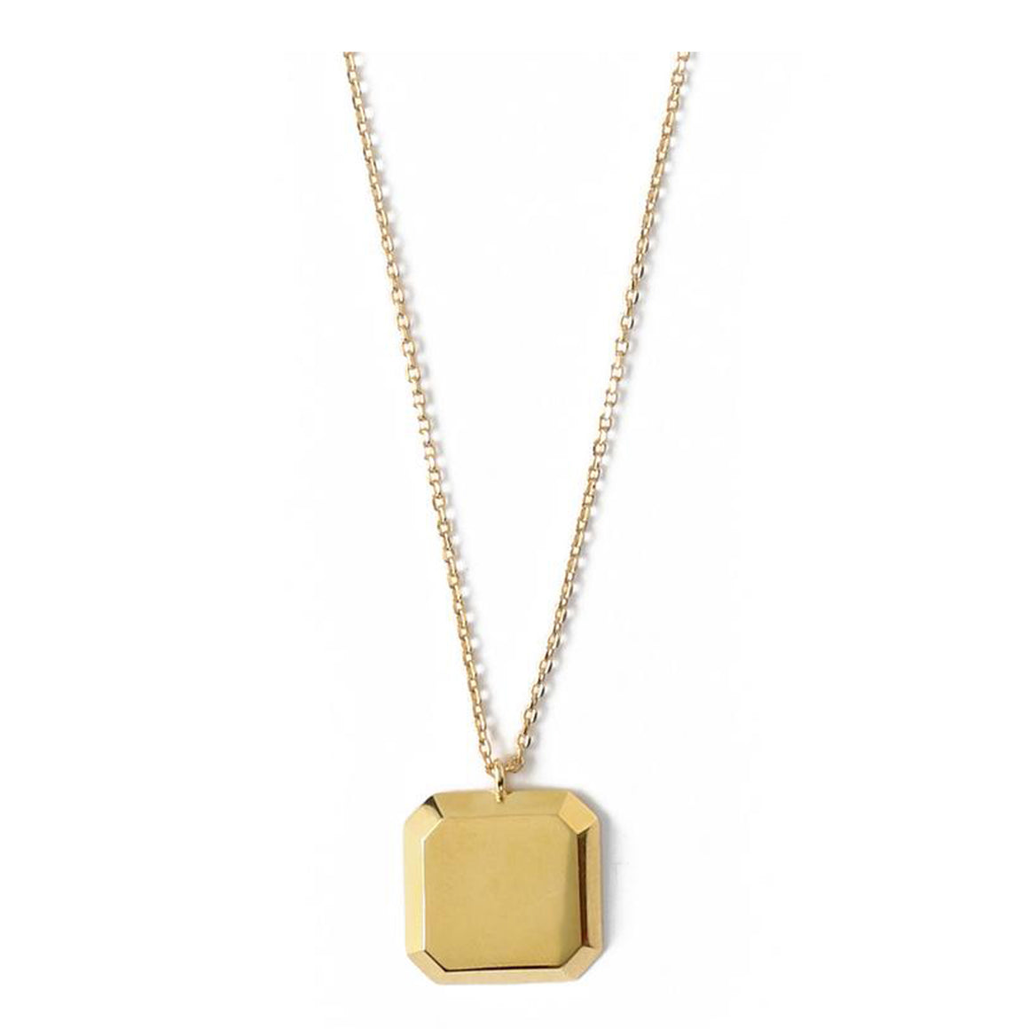 Bevelled Square Necklace for Women in Gold