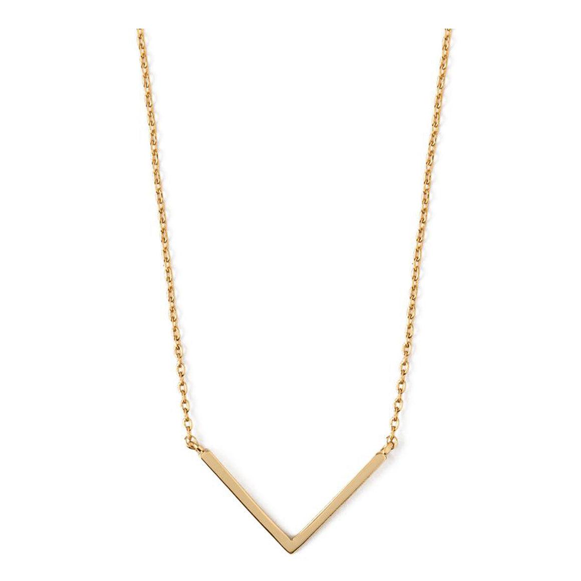 Clean V Necklace for Women in Gold