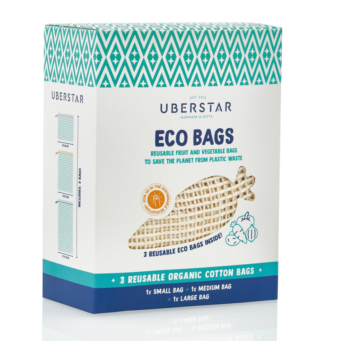 Eco Bag-Fruit & Veg 3pk