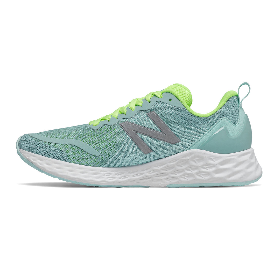 Fresh Foam Tempo Running Shoe for Women in Storm Blue with Lime Glo & Glacier
